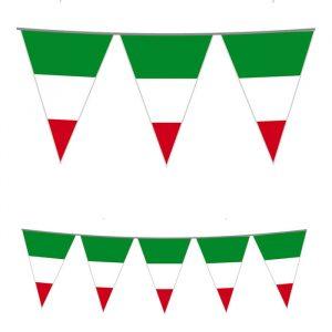 Festone Bandierine in plastica 1000 x 25 cm Bandiera Italia