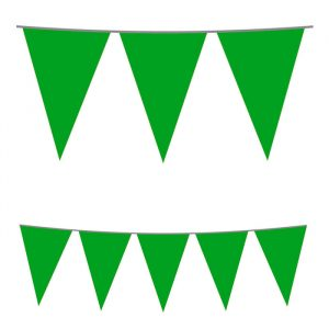 Festone Bandierine in plastica 500 x 25 cm Verde