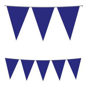 Festone Bandierine in plastica 500 x 25 cm Blu