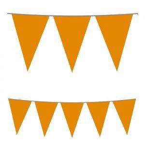 Festone Bandierine in plastica 500 x 25 cm Arancio