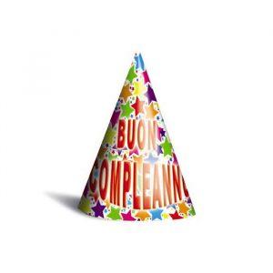 6 Cappellini Buon Compleanno Stardust