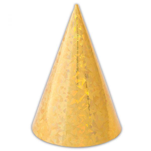 6 Cappellini Olografici Oro