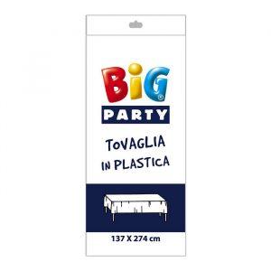 Tovaglia in plastica 137 x 274 cm Bianca