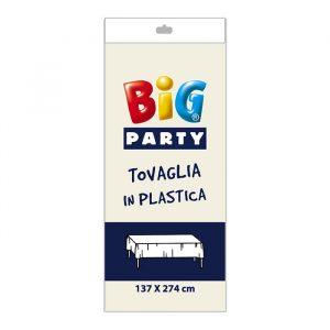 Tovaglia in plastica 137 x 274 cm Avorio