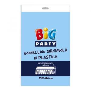 Gonnellino Girotavola in Plastica 73 x 423 cm Celeste