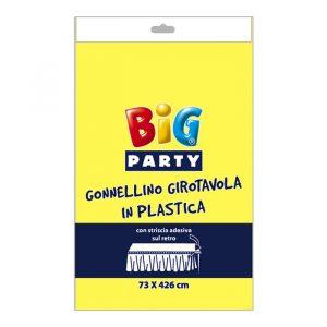 Gonnellino Girotavola in Plastica 73 x 423 cm Giallo