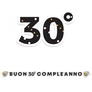Festone Kit Scritta Maxi 600 x 25 cm 30 Anni Prestige