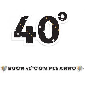 Festone Kit Scritta Maxi 600 x 25 cm 40 Anni Prestige