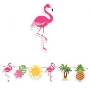 Festone Kit Maxi 600 x 25 cm Flamingo Party