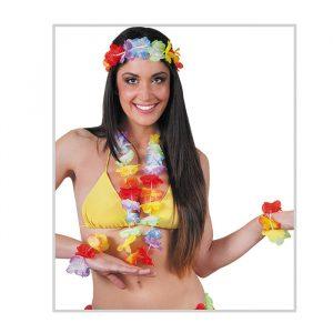 Set Hawaiano Flower con collana