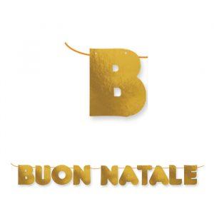 Festone Kit Scritta Maxi 600 x 25 cm Buon Natale Metal