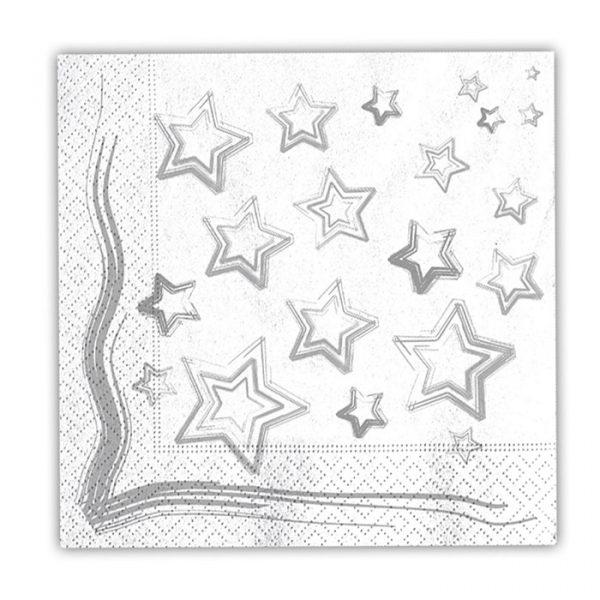 20 Tovaglioli 33 x 33 cm Silver Star