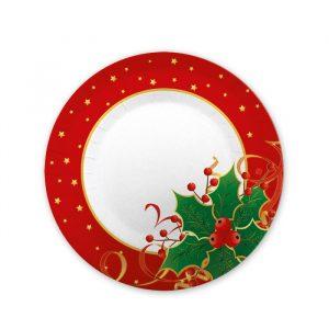8 Piatti Ø 20 cm Natale Gourmet