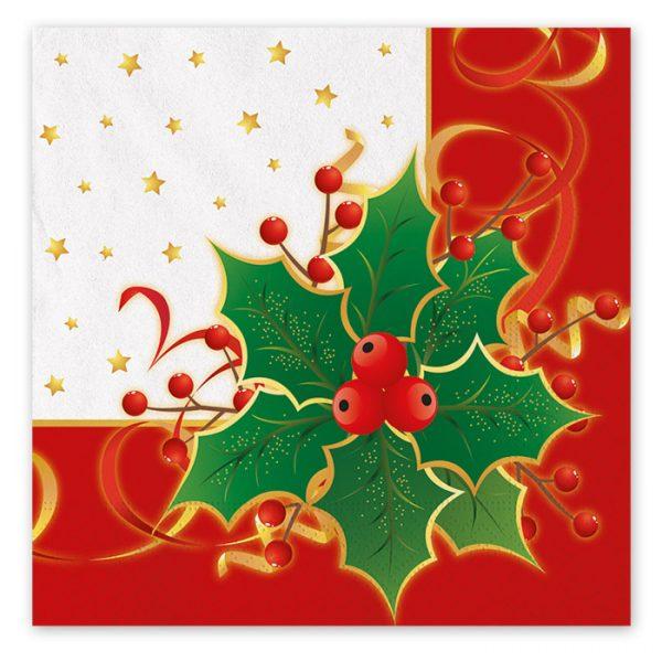 20 Tovaglioli 33 x 33 cm Natale Gourmet