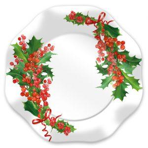 5 Sottopiatti Ø 32 cm Bianco Natale
