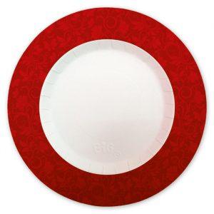 8 Piatti Ø 30 cm Celebrity Rosso