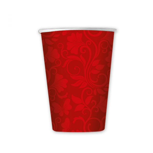 8 Bicchieri 200 cc Celebrity Rosso