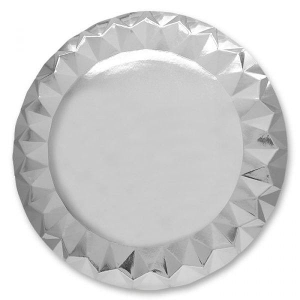 5 Sottopiatti Diamant Ø 32 cm Silver
