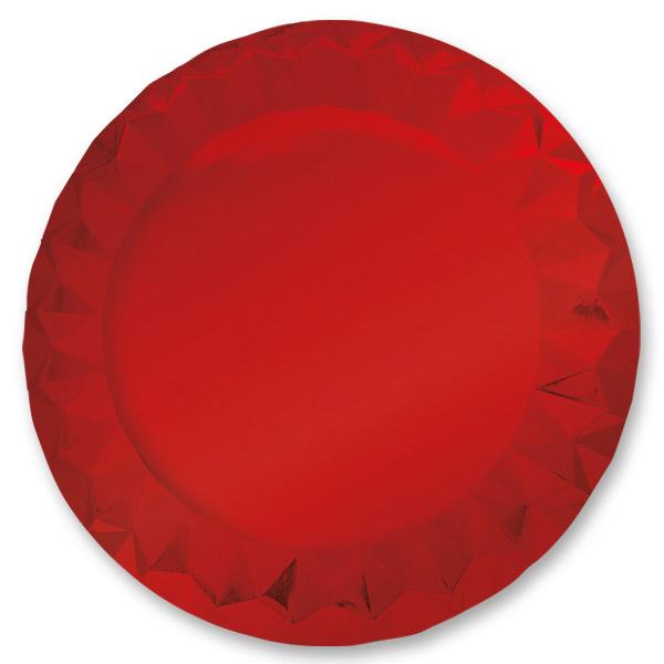 5 Sottopiatti Diamant Ø 32 cm Rouge Metallic