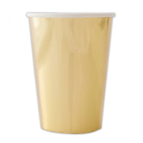 8 Bicchieri 200 cc Oro Metal