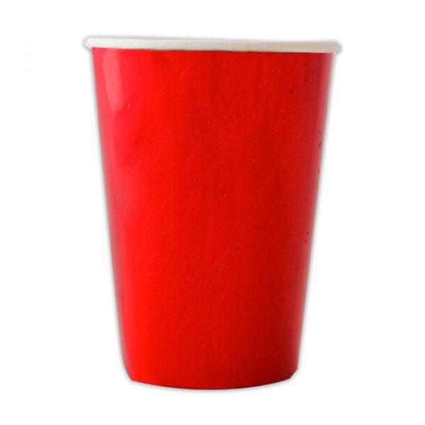 8 Bicchieri 200 cc Rosso Metal