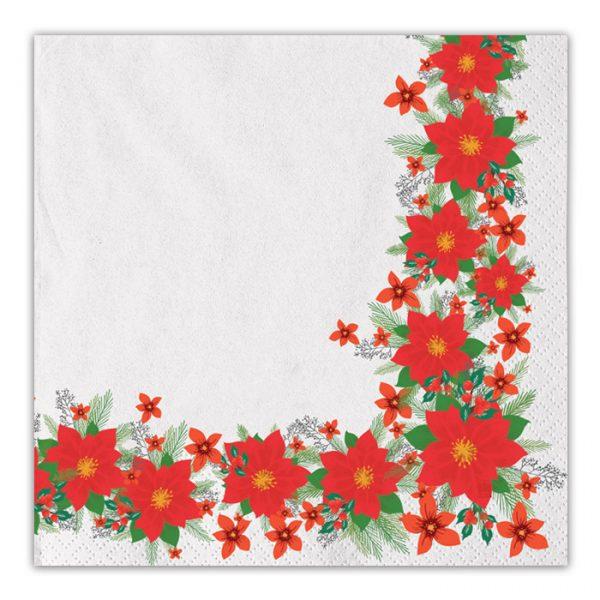 20 Tovaglioli 33 x 33 cm Christmas Flower