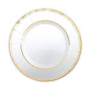 8 Piatti Ø 25 cm Classic Oro Metal