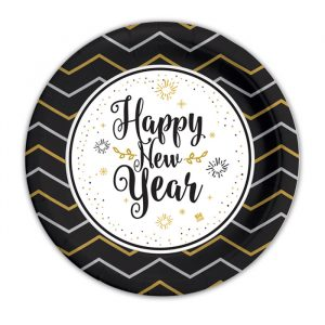 8 Piatti Ø 18 cm Happy New Year