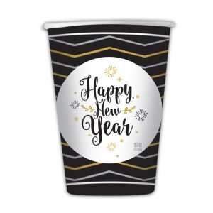 8 Bicchieri 200 cc Happy New Year