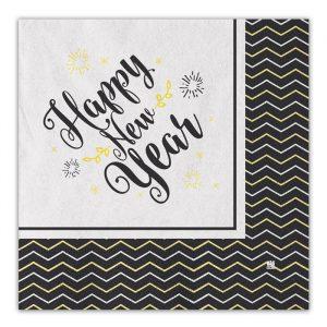 20 Tovaglioli 33 x 33 cm Happy New Year