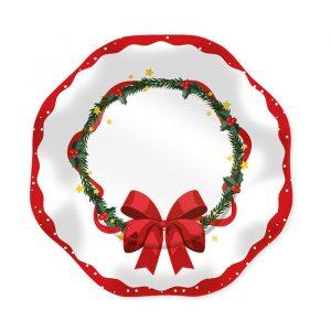 8 Piatti Ø 18 cm Sweet Christmas