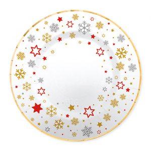 8 Piatti Ø 25 cm Stars