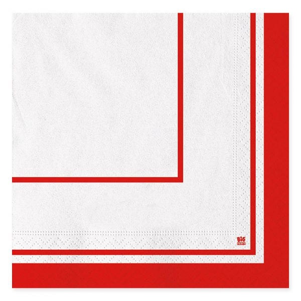 20 Tovaglioli 33 x 33 cm Classic Rosso