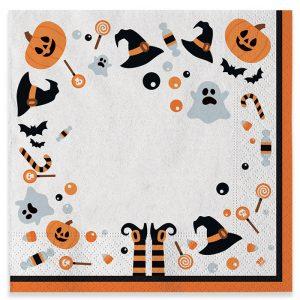 20 Tovaglioli 33 x 33 cm Halloween