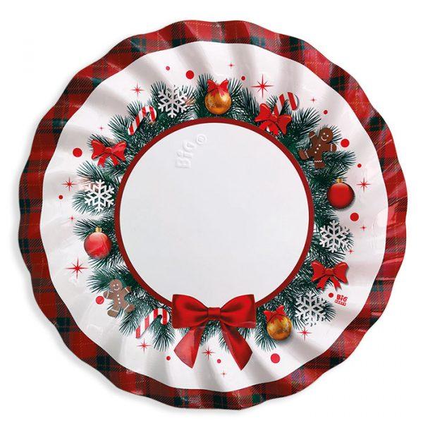 6 Piatti cm.30 Christmas Kilt