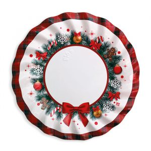 8 Piatti Ø 25 cm Christmas Kilt