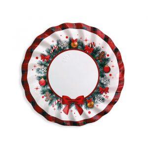 8 Piatti Ø 20 cm Christmas Kilt