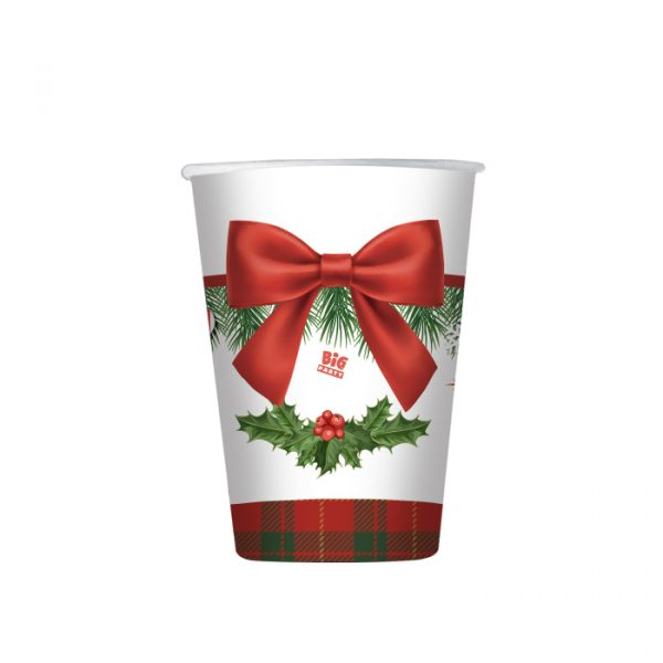 8 Bicchieri 200 cc Christmas Kilt