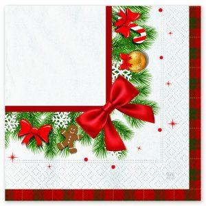 20 Tovaglioli 33 x 33 cm Christmas Kilt