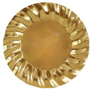 6 Piatti cm.30 Wavy Gold
