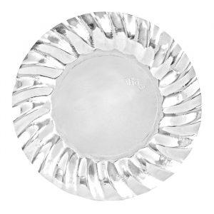 8 Piatti Ø 25 cm Wavy Silver