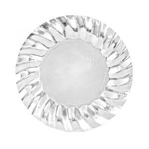 8 Piatti Ø 20 cm Wavy Silver