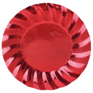 6 Piatti cm.30 Wavy Red Metal