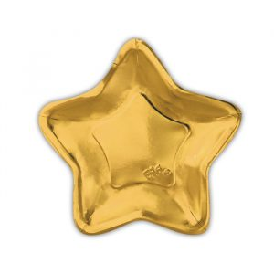 6 Piatti cm.24 Stella Oro Metal