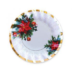 6 Piatti Fondi 24 cm Christmas Mood