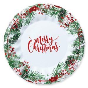 6 Piatti 30 cm Merry Christmas