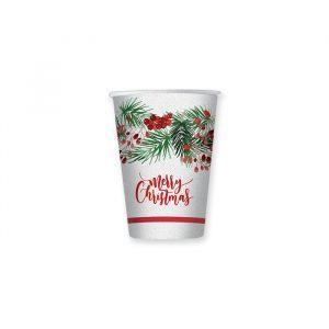 8 Bicchieri 200 cc Merry Christmas