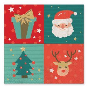 20 Tovaglioli 33 x 33 cm Funny Christmas