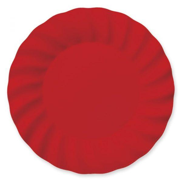 6 Piatti 30 cm Wavy Red