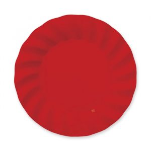 8 Piatti 25 cm Wavy Red